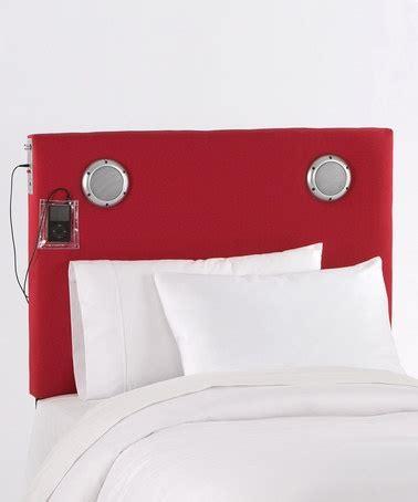 headboard with speakers red mp3 speaker headboard