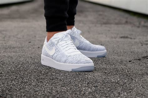 Nike Air 1 Flyknit Low White nike wmns air 1 flyknit low white white black