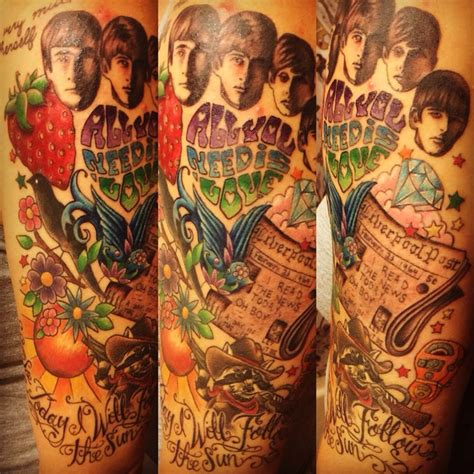 beatles tattoo designs best 25 beatles tattoos ideas on