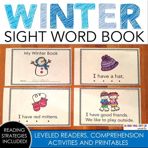 sights books winter sight word book with a freebie kindergarten smarts