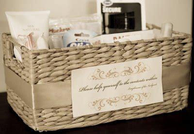 wedding bathroom baskets    diary