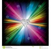 Diamond Illustration On Rainbow Background Stock Vector