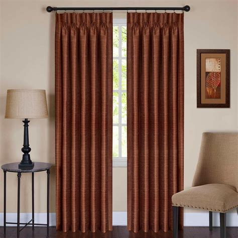 pleated window curtains achim spice pinch pleat window curtain panel 34