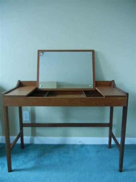 Flip Top Vanity Table Mid Century Modern Teak Flip Top Vanity Desk Vanity Desk Modern And Teak