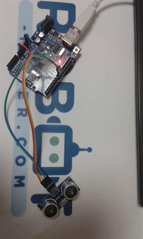 capteur ultrasons hc sr  avec une arduino uno