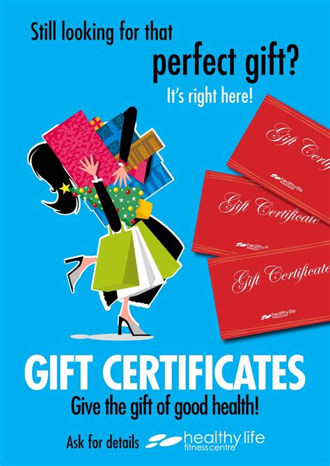 printable gym gift certificates gift certificates healthy life fitness centre