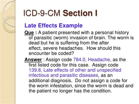 severe migraine after c section medical coding and icd9cm review