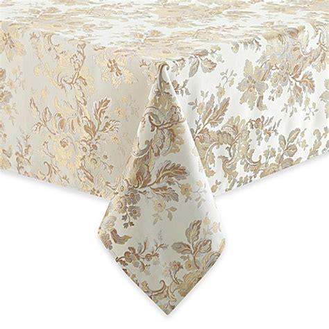 bed bath and beyond tablecloth waterford 174 linens marcelle tablecloth in ivory bed bath