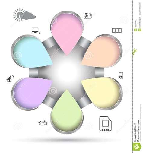 bueiness circle group with icon royalty free stock photo