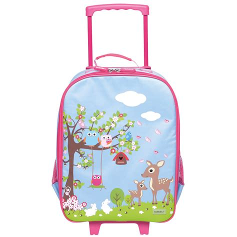 Shower Bath Mats bobble art kids luggage trolley bag woodland new