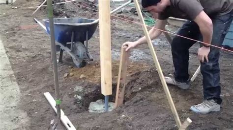 install l post concrete 18 how to install fence post decor23