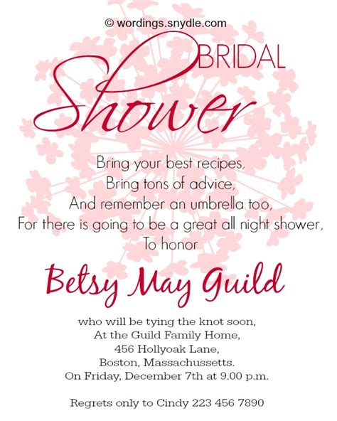 Sle Wedding Invitation Sayings by Bridal Shower Messages Image Bathroom 2017