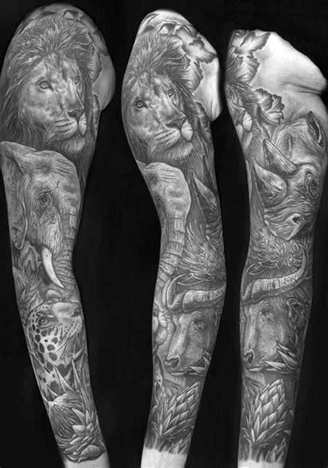 jungle sleeve tattoo jungle sleeve designs ideas and meaning tattoos