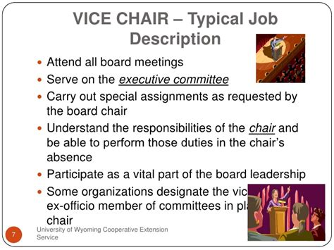 chair of committee responsibilities board officer responsibilities