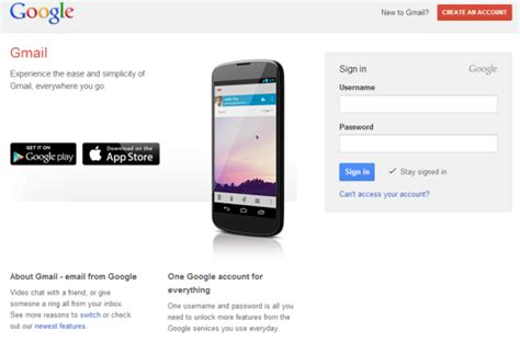 gmail gets refreshed log in page