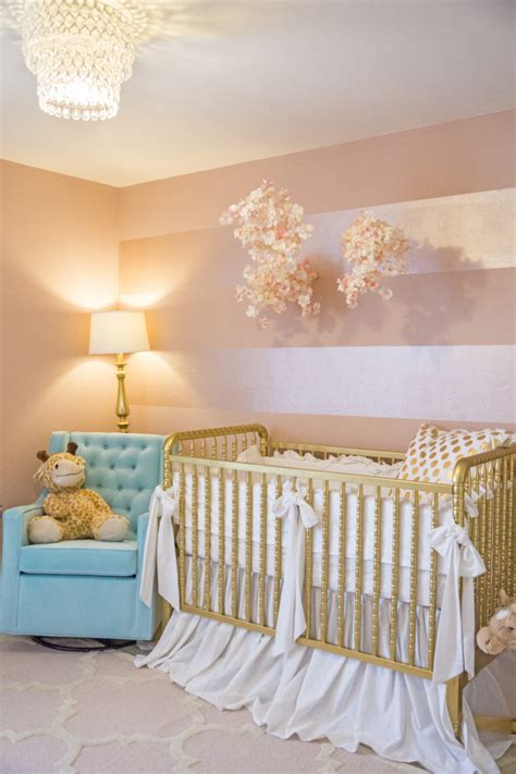 rose themed baby room sophie s pink and gold nursery project nursery