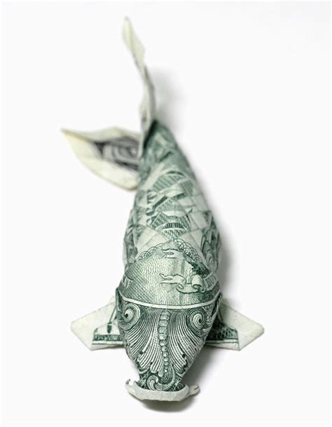 How To Make Money Origami Koi Fish - one dollar koi new version by orudorumagi11 on deviantart