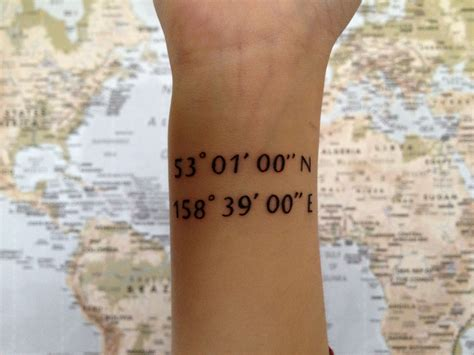 tattoo fonts for coordinates cool idea coordinate i m thinking for my