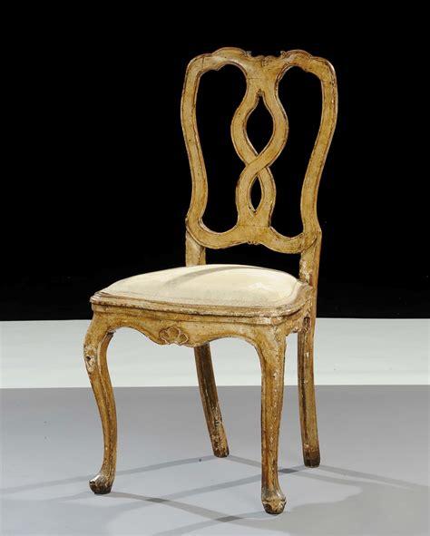sedie antiche in legno sedia in legno intagliato e laccato venezia xviii secolo