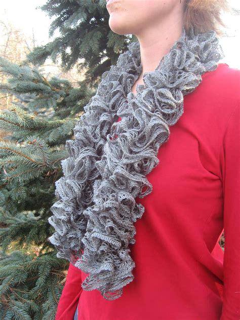gray ruffle sashay scarf on luulla