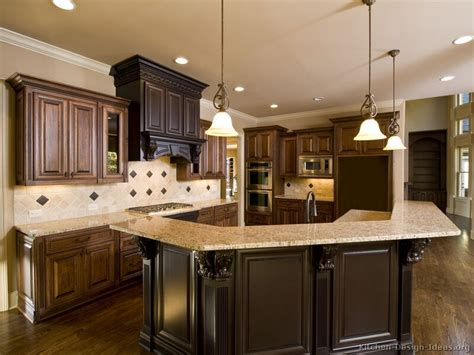 Brown Kitchens Designs Pictures Of Kitchens Traditional Medium Wood Cabinets Brown Page 3