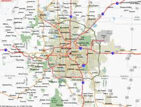 city colorado map map of denver co