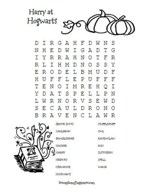 harry potter printable activity sheets harry potter worksheet hogwarts wordsearch homeschool
