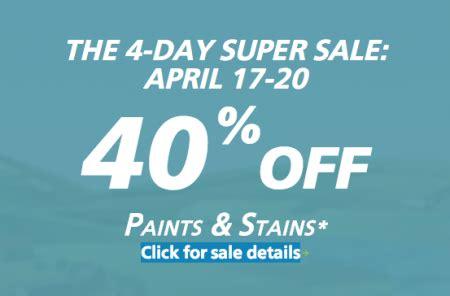 sherwin williams paint store saskatoon sherwin williams 4 day sale 40 paints and