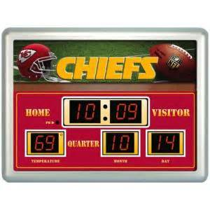 home depot kansas city kansas city chiefs 14 in x 19 in scoreboard clock with