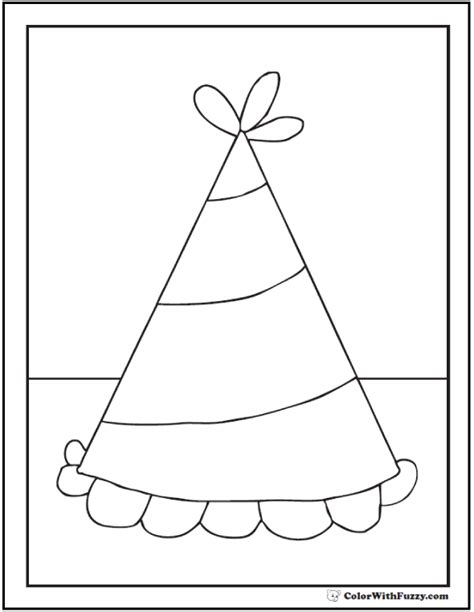 coloring page party hat 55 birthday coloring pages customizable pdf