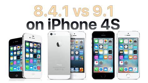 iphone 4s ios 9 1 vs ios 8 4 1
