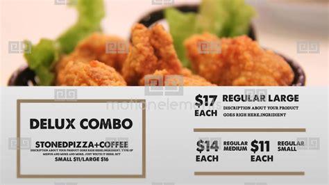 Vintage Food Menu Restaurant Display Digital Signage After Effects Templates 9392374 Food Menu Slideshow After Effects Template Free
