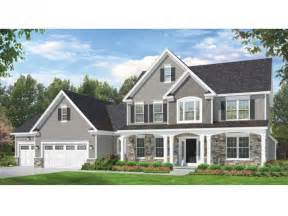 Colonial Style Home Plans Eplans Colonial House Plan Space Where It Counts 2523