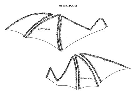 wings template wing template