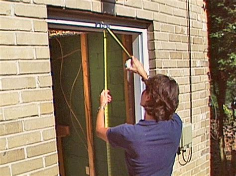 How To Install A Pre Hung Exterior Door How Tos Diy Exterior Door Frame Installation