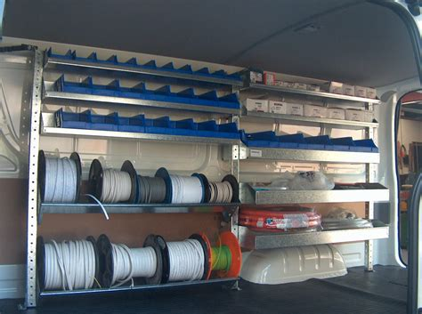 Electricians Racking by Electricians Shelving Kit Vw Transporter T5 2 Bays X