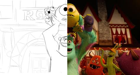 layout artist pixar monsters university behind the scenes from sketchbook to