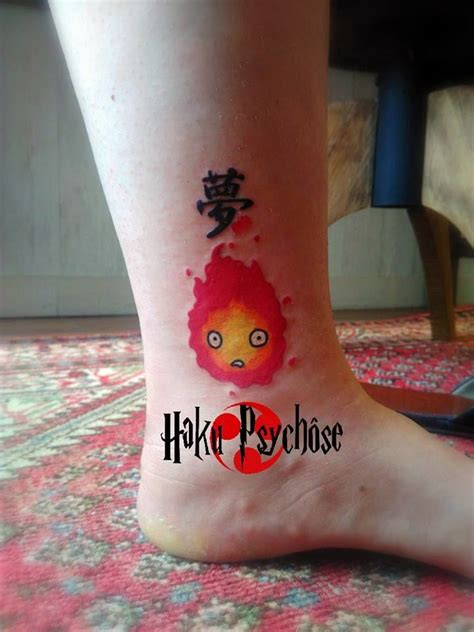 calcifer tattoo hakupsychose calcifer ghibli miyazaki totoro