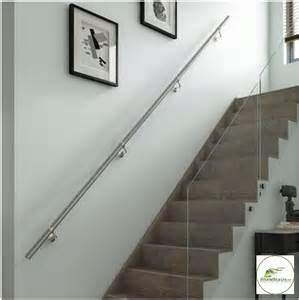 Chrome Banisters by Stairs Wall Mounted Handrail Kit In Chrome Or Brushed