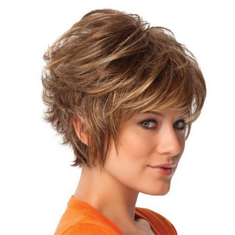 short hair slight wave women fashion sexy synthetic fluffy slightly curly wavy
