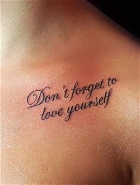 people getting tattoos get a chic quote for yourself and the you