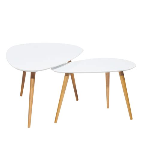 tables basses scandinaves lot 2 tables basses droppy by drawer