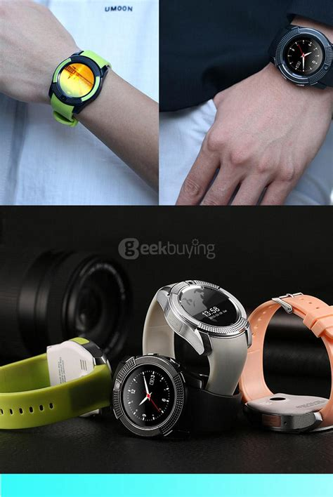 V8 Smart Band Calling Clock With Smar Diskon v8 smart silver