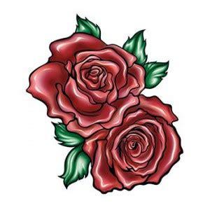 tatouage temporaire 2 roses rouges femme signification