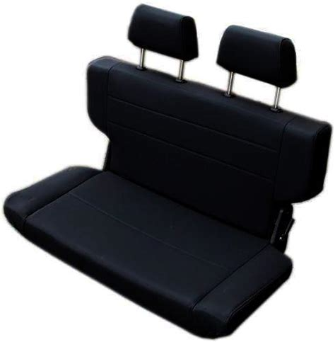 bronco bench seat rear bench seat w headrests fold tumble black 40