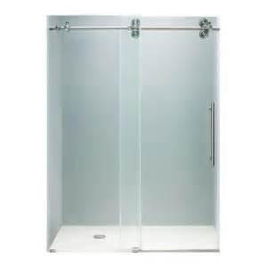 Shower Door Wheels Home Depot by 1346 72 In X 74 In Frameless Bypass Shower Door In