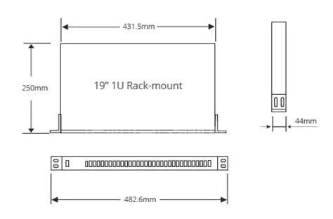1x16 fiber plc splitter smf 28e fiber with 1u 19 inch rack