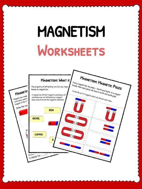 Magnetism Worksheets by Pictures Magnetism Worksheets Dropwin