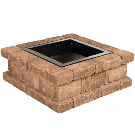 square pit kit pavestone rumblestone 46 in x 10 5 in concrete