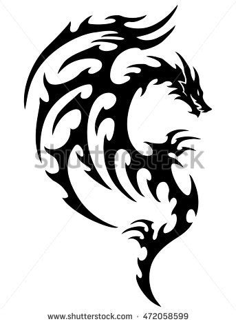 tribal tattoo dragon vector illustration tribal dragon tattoo stock images royalty free images